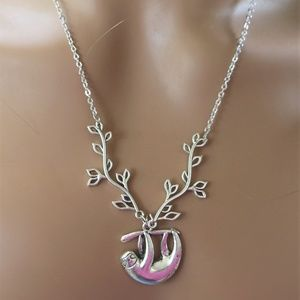 Jewelry - Silver Sloth Charm Necklace